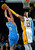 Los Angeles Lakers center Dwight Howard, right, blocks a shot by Denver Nuggets forward Danilo Gallinari, of Italy, during the first half of their NBA basketball game, Sunday, Jan. 6, 2013, in Los Angeles. (AP Photo/Mark J. Terrill)