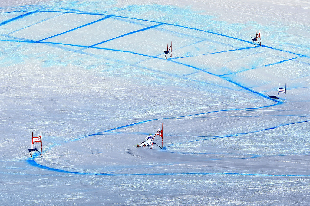Description of . Matteo Marsaglia of Italy descends the course en route to winning the men's Super G on the Birds of Prey at the Audi FIS World Cup on December 1, 2012 in Beaver Creek, Colorado.  (Photo by Doug Pensinger/Getty Images)