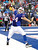 Buffalo Bills tight end Scott Chandler (84) celebrates a touchdown catch during the first half of an NFL football game against the Jacksonville Jaguars, Sunday, Dec. 2, 2012, in Orchard Park, N.Y. (AP Photo/Bill Wippert)