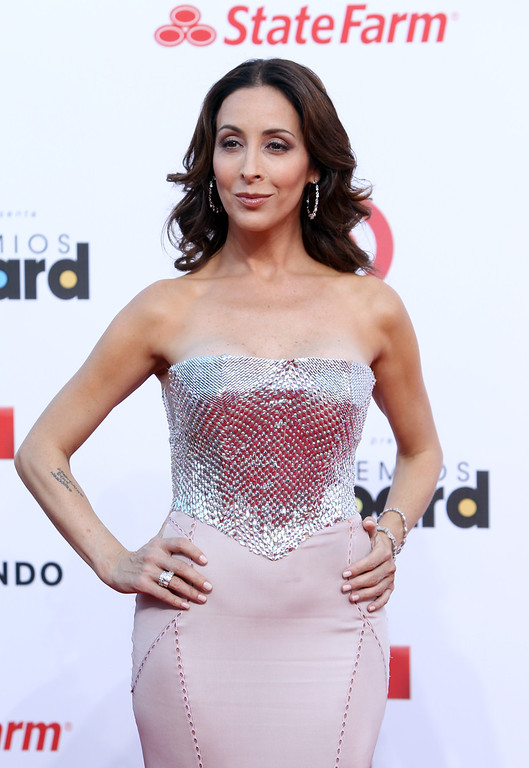Description of . Mexican actress Adriana Lavat arrives at the Latin Billboard Awards in Coral Gables, Fla. Thursday, April 25, 2013. (Photo by Carlo Allegri/Invision/AP)