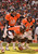 Denver Broncos quarterback Peyton Manning (18) calls a play from the line in the first quarter as the Denver Broncos took on the Kansas City Chiefs at Sports Authority Field at Mile High in Denver, Colorado on December 30, 2012. John Leyba, The Denver Post