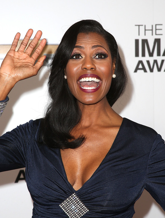 Description of . LOS ANGELES, CA - FEBRUARY 01:  TV personality Omarosa Manigault arrives at the 44th NAACP Image Awards held at The Shrine Auditorium on February 1, 2013 in Los Angeles, California.  (Photo by Frederick M. Brown/Getty Images for NAACP Image Awards)