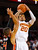Southern Cal guard J.T. Terrell (20) shoots over Oregon State guard Challe Barton (4) during the second half of an NCAA college basketball game, Saturday, Jan. 19, 2013, in Los Angeles. Southern Cal won 69-68. (AP Photo/Gus Ruelas)