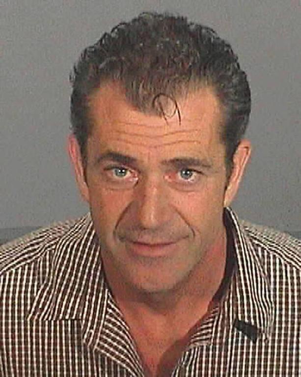 Description of . This booking photo released by the Los Angeles County Sheriff's Department, shows actor-director Mel Gibson taken after he was arrested Friday, July 28, 2006. Gibson's drunk-driving arrest and subsequent anti-Semitic tirade kicked off a back-and-forth among Hollywood insiders expressing their opinions in paid advertisements in the Los Angeles Times and the entertainment trade papers Variety and The Hollywood Reporter. (AP Photo/Los Angeles County Sheriff's Department)