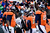 Denver Broncos quarterback Peyton Manning (18) talks with the referee in the second quarter. The Denver Broncos vs Baltimore Ravens AFC Divisional playoff game at Sports Authority Field Saturday January 12, 2013. (Photo by AAron  Ontiveroz,/The Denver Post)