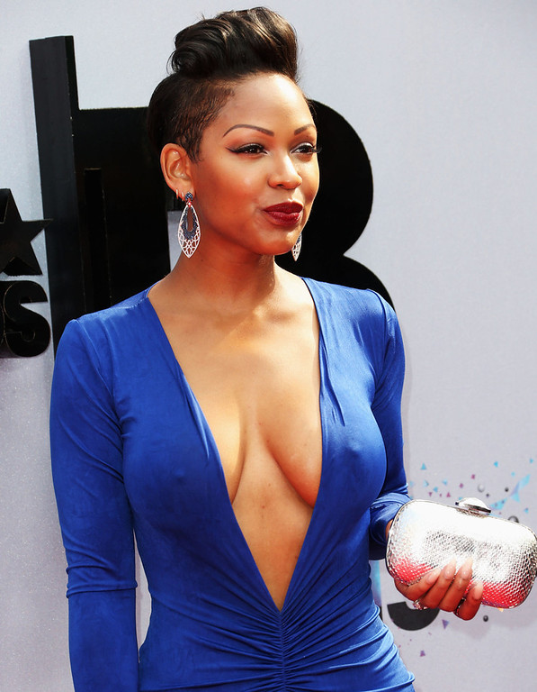 Description of . Actress Meagan Good attends the 2013 BET Awards at Nokia Theatre L.A. Live on June 30, 2013 in Los Angeles, California.  (Photo by Frederick M. Brown/Getty Images for BET)