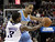 Denver Nuggets guard Andre Miller, right, protects the ball from Sacramento Kings guard Aaron Brooks during the first quarter of an NBA basketball game in Sacramento, Calif., Sunday, Dec. 16, 2012.(AP Photo/Rich Pedroncelli)