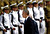 US President Barack Obama reviews an honor guard upon his arrival at Ben Gurion airport near Tel Aviv, Israel, Wednesday, March 20, 2013. (AP Photo/Ariel Schalit)