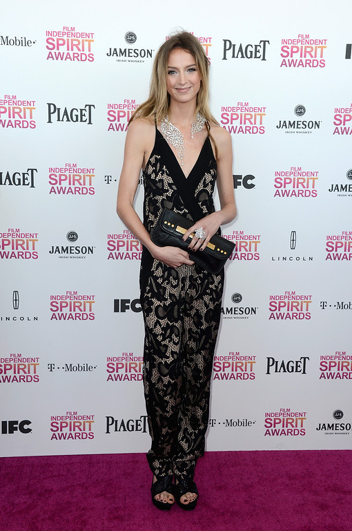 Description of . SANTA MONICA, CA - FEBRUARY 23:  Actress Stephanie Crayencour attends the 2013 Film Independent Spirit Awards at Santa Monica Beach on February 23, 2013 in Santa Monica, California.  (Photo by Frazer Harrison/Getty Images)
