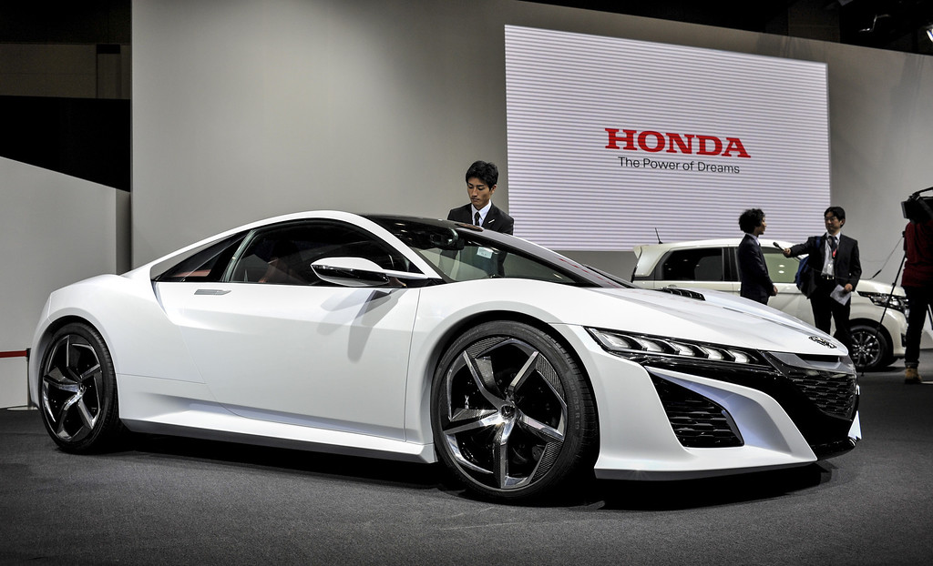 Description of . Honda Motor Co. NSX Concept sports vehicle is displayed during the 43rd Tokyo Motor Show 2013 at Tokyo Big Sight on November 20, 2013 in Tokyo, Japan. The 43rd Tokyo Motor Show 2013 will be open to public from November 22nd to December 1st, 2013.  (Photo by Keith Tsuji/Getty Images)