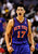 New York Knicks point guard Jeremy Lin (17) celebrates his dunk during the second half of an NBA basketball game against the Washington Wizards, Wednesday, Feb. 8, 2012, in Washington. The Knicks won 107-93. Jeremy Lin ranked as Google's seventh most searched trending person of 2012. (AP Photo/Haraz N. Ghanbari)