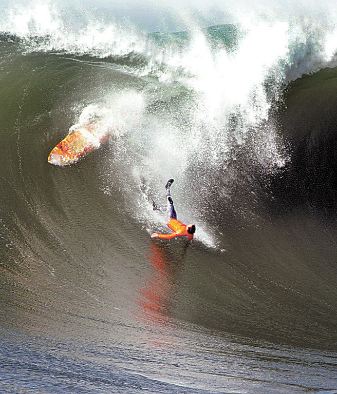Description of . Darryl 'Flea' Virostko's daring takeoffs in the 2008 contest led to some of the most spectacular wipeouts of the day.  (Dan Coyro/Sentinel)