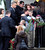 Mourners stand in line at the Honan Funeral Home in Newtown on 12/17/2012 for the funeral service of six-year-old Jack Pinto, a victim of the Sandy Hook Elementary School shootings.