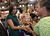 Michelle Obama shakes hands with fans after her speech.