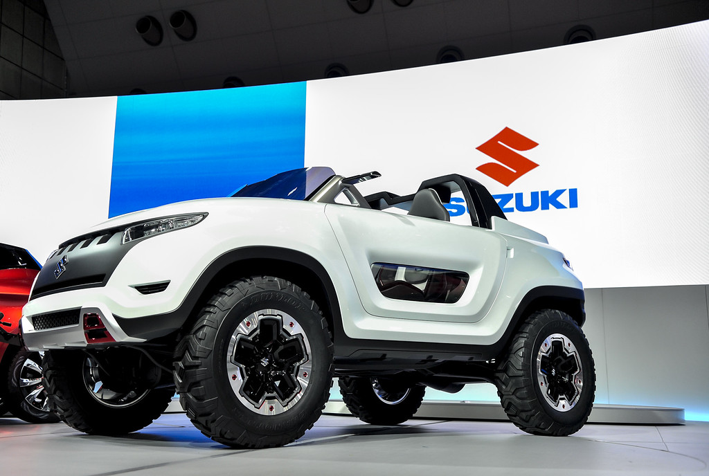 Description of . Suzuki Motor Corp. X-Lander concept vehicle is on display during the 43rd Tokyo Motor Show 2013 at Tokyo Big Sight on November 20, 2013 in Tokyo, Japan.  (Photo by Keith Tsuji/Getty Images)