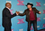 Producer L.A. Reid and season 2 winner Tate Stevens celebrate at Fox's 