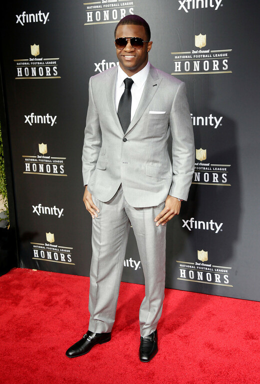 Description of . Randall Cobb of the Green Bay Packers arrives at the 2nd Annual NFL Honors on Saturday, Feb. 2, 2013 in New Orleans. (Photo by AJ Mast/Invision/AP)