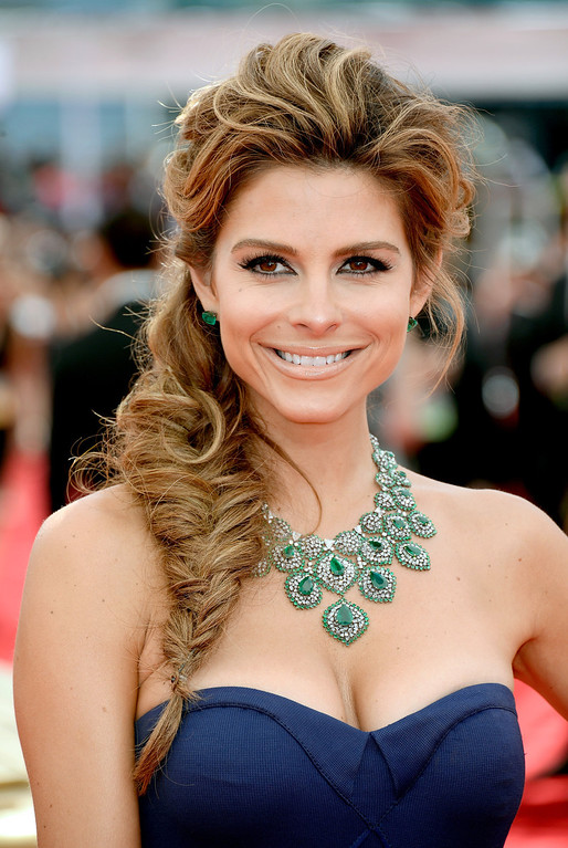 Description of . TV personality Maria Menounos arrives at the 65th Annual Primetime Emmy Awards held at Nokia Theatre L.A. Live on September 22, 2013 in Los Angeles, California.  (Photo by Frazer Harrison/Getty Images)