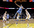 Denver Nuggets' JaVale McGee (34) shoots between Golden State Warriors' David Lee, right, and Klay Thompson, left, during the first half of an NBA basketball game in Oakland, Calif., Thursday, Nov. 29, 2012. (AP Photo/Marcio Jose Sanchez)