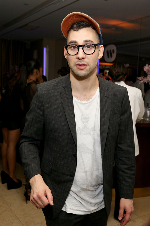 Description of . Musician Jack Antonoff attends the Warner Music Group annual GRAMMY celebration on January 26, 2014 in Los Angeles, California.  (Photo by Imeh Akpanudosen/Getty Images for Warner Bros.)