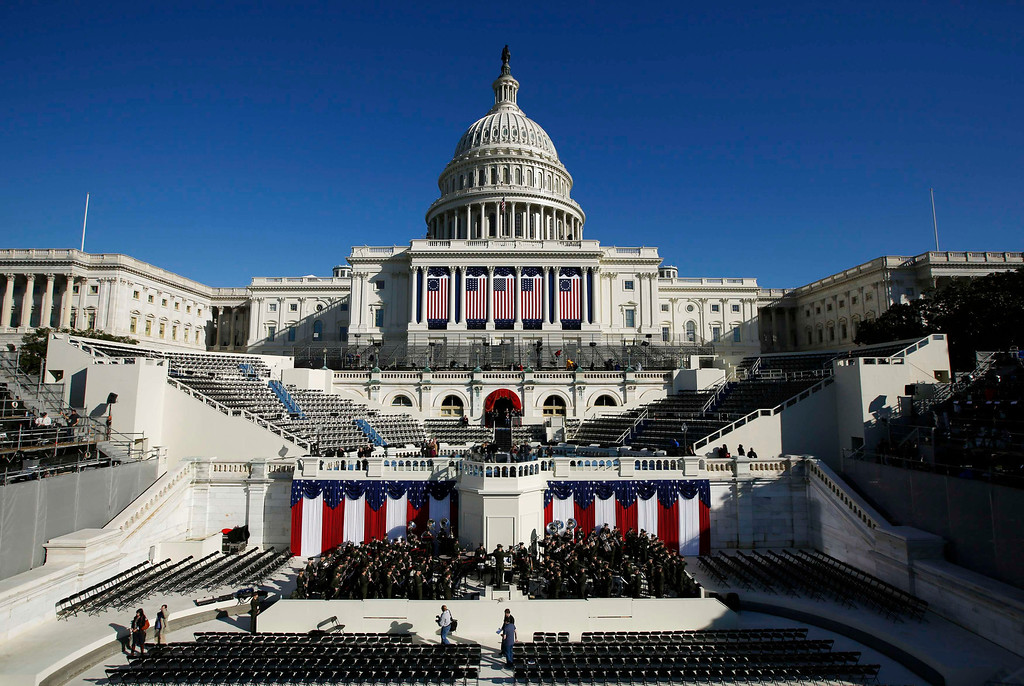 Description of . The West Front of the U.S. Capitol is pictured on the eve of the second inauguration of U.S. President Barack Obama in Washington, January 20, 2013.       REUTERS/Jason Reed