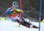 Mikaela Shiffrin, of the United States, speeds down the course during the first run of an alpine ski, women's world Cup slalom, in Maribor, Slovenia, Sunday, Jan. 27, 2013. (AP Photo/Marco Trovati)
