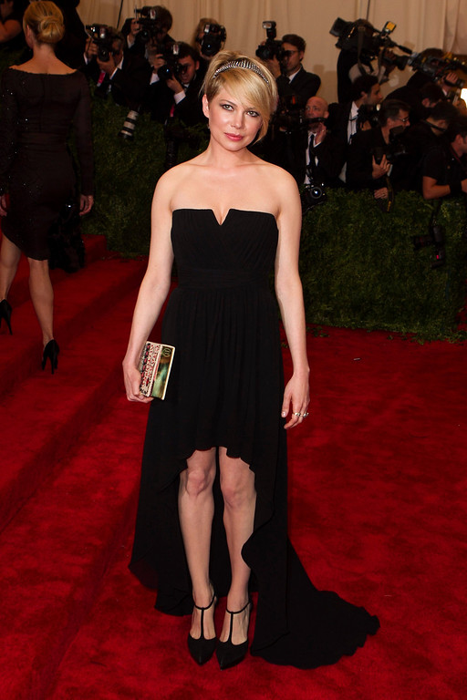 Description of . Actress Michelle Williams arrives at the Metropolitan Museum of Art Costume Institute Benefit celebrating the opening of