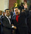 Venezuelan President Hugo Chavez (R) and Iran's President Mahmoud Ahmadinejad shake hands during a meeting at Miraflores presidential palace in Caracas on June 22, 2012. President Hugo Chavez passed away on March 5, 2013 in Caracas after a long fight with cancer, Venezuelan Vice President Nicolas Maduro announced. JUAN BARRETO/AFP/Getty Images