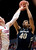 Colorado forward Josh Scott (40) shoots over Washington State forward Brock Motum (12) during the first half of an NCAA college basketball game Saturday, Jan. 19, 2013, in Pullman, Wash. (AP Photo/Dean Hare)