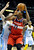 DENVER, CO - JANUARY 18: Washington center Kevin Seraphin (13) worked his way to the bucket against Denver defender Kota Koufos (41) in the second half. The Washington Wizards defeated the Denver Nuggets 112-108 at the Pepsi Center Friday night, January 18, 2013. Karl Gehring/The Denver Post