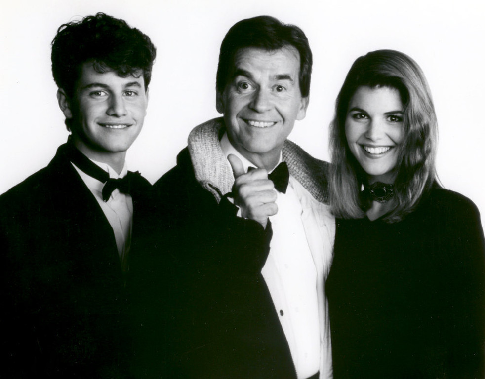 Description of . NYRE 1990 Kirk Cameron, Lori Loughlin with Dick Clark