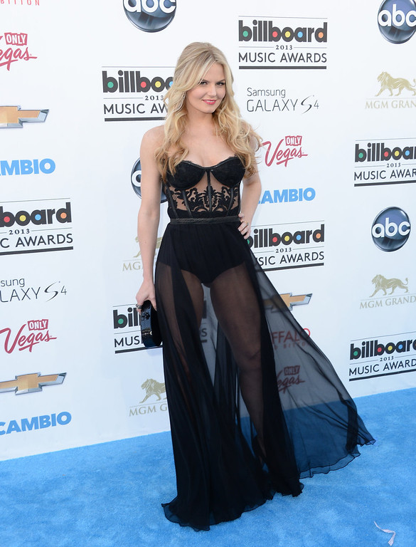 . Actress Jennifer Morrison arrives at the 2013 Billboard Music Awards at the MGM Grand Garden Arena on May 19, 2013 in Las Vegas, Nevada.  (Photo by Jason Merritt/Getty Images)