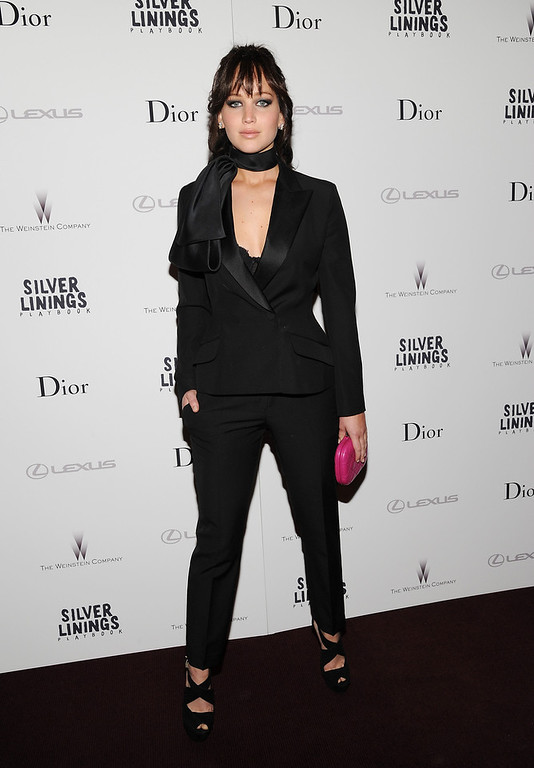 """. Actress Jennifer Lawrence attends a special screening of \""""Silver Linings Playbook\"""" hosted by Dior at Florence Gould Hall on Sunday Nov. 11, 2012 in New York. (Photo by Evan Agostini/Invision/AP)"""