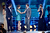 (L-R) Actors Henry Cavill and Nina Dobrev present actors Bradley Cooper and Jennifer Lawrence the Best Acting Ensemble Award for 