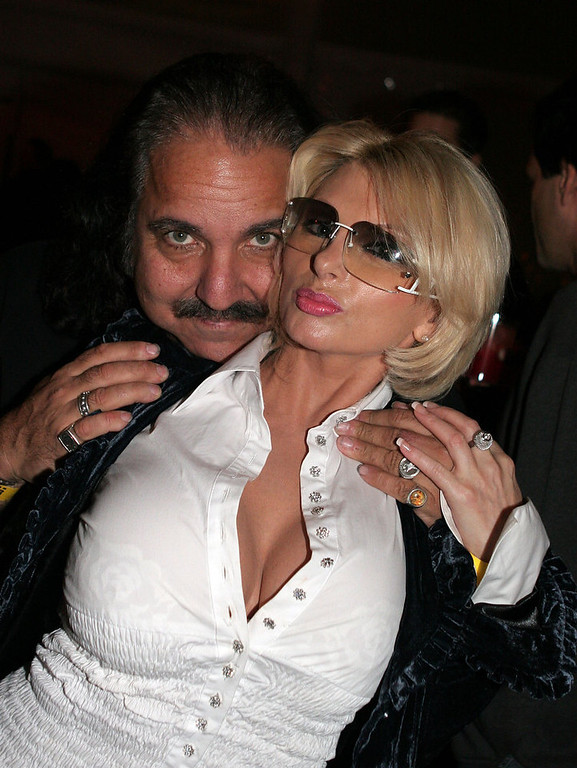 Description of . Ron Jeremy (L) and Lana Smith pose at the reception for