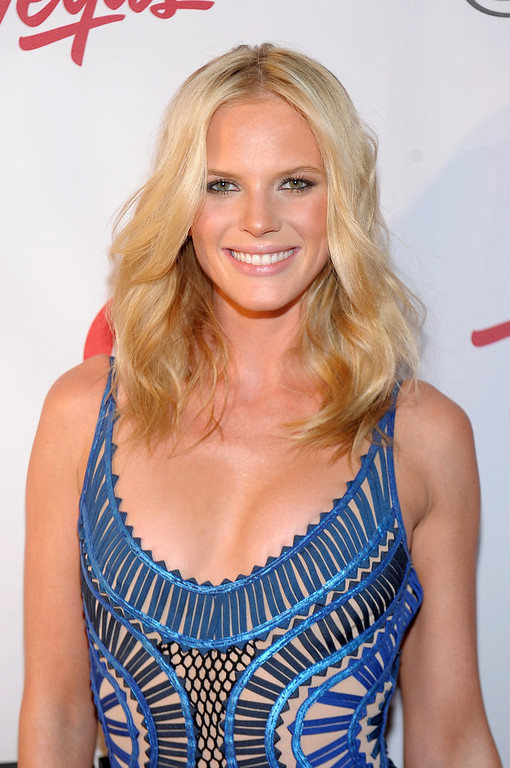 Description of . Sports Illustrated swimsuit model Anne V attends Club SI Swimsuit at 1 OAK Nightclub at The Mirage Hotel & Casino on February 14, 2013 in Las Vegas, Nevada.  (Photo by Michael Loccisano/Getty Images for Sports Illustrated)