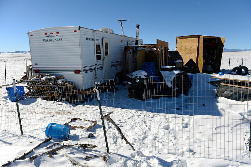 HARTSEL, CO - DECEMBER 2: This is the trailer home of Colorado Springs Planned Parenthood shooter Robert Lewis Dear in Hartsel, Colorado on December 2, 2015. Dear lived on 5 acres of open land with few neighbors. (Photo by Helen H. Richardson/The Denver Post)
