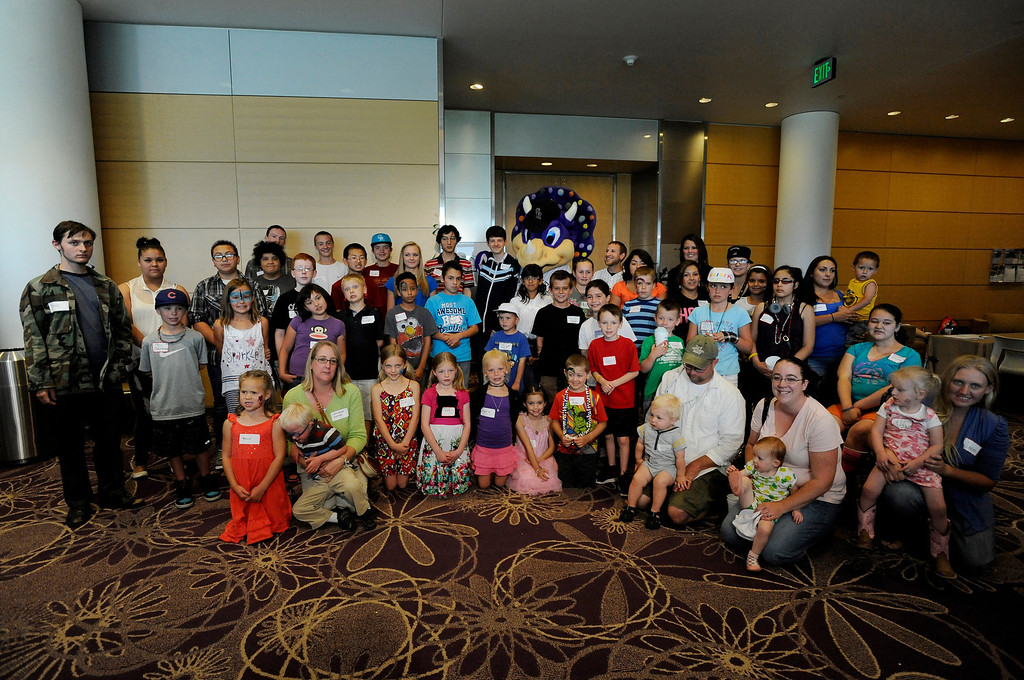""". A group of around 150 people - cancer survivors and their families - celebrated life as they attended Children\'s Hospital Colorado\'s \""""Take Me Out to the Ballgame\"""" cancer survivor\'s event on June 23, National Cancer Survivors\' Day, at the Children\'s Hospital in Aurora, Colo. Survivors spoke about their stories, as face painting and other activities were offered to recognize pediatric patient survivors and family members. Photo by Jamie Cotten, Special to The Denver Post"""