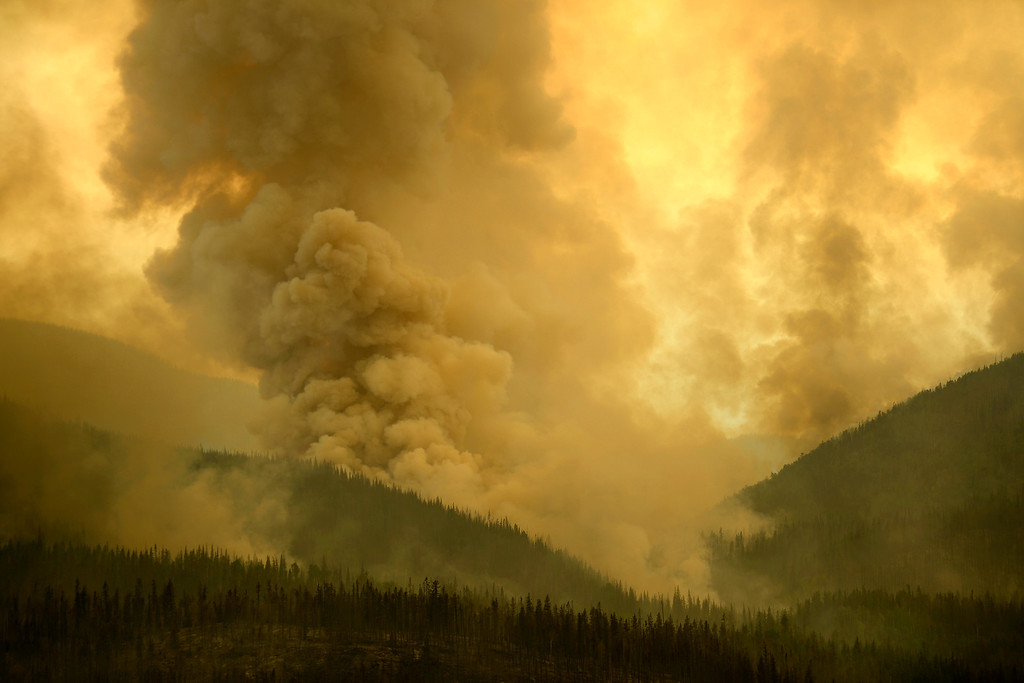 . Crews watch as the Papoose fire continues to burn near Creede. The three fires that make up the West Fork Complex fire now top out at more than 70 thousand acres. (Photo by AAron Ontiveroz/The Denver Post)