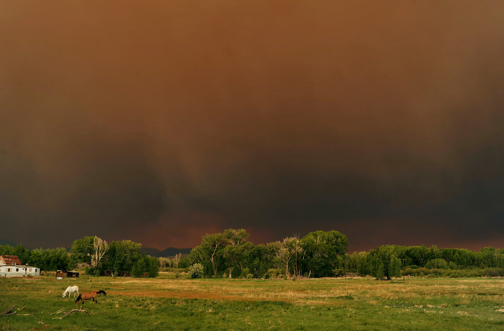 . The smoke from the West Fork Complex fire fills the sky in Del Norte area on Friday,  June 21, 2013. (Photo By Hyoung Chang/The Denver Post)