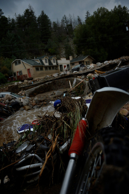 . SALINA, CO. - September 13: Heavy rains caused flash flooding and damage in Salina in 4 Mile Canyon September 13, 2013 Salina, Colorado. (Photo By Joe Amon/The Denver Post)