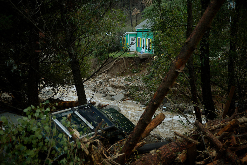 . SALINA, CO. - September 13: Salina in 4 Mile Canyon was mostly washed away after heavy rains caused flash flooding and major damage September 13, 2013 Salina, Colorado. (Photo By Joe Amon/The Denver Post)