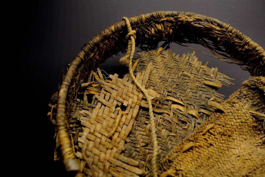 . DENVER, CO. - NOVEMBER 15:  A twilled Pueblo ring basket made of willow and yucca is displayed in the Living West exhibit at the  History Colorado Center in Denver, CO November 15, 2013. The 7,000-square-foot exhibit opens November 23 and and is divided into three sections, Mesa Verde, the Dust Bowl and Our Mountains. (Photo By Craig F. Walker / The Denver Post)