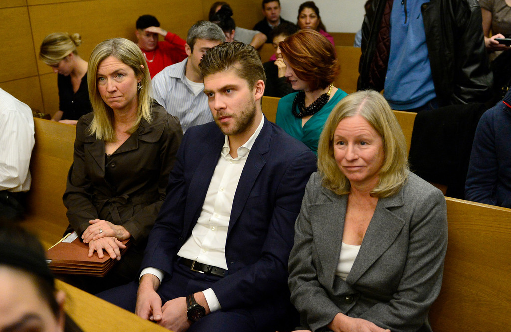 . Semyon Varlamov, starting goaltender for the Colorado Avalanche, sits in court before his hearing started in Denver, December 02, 2013. Varlamov was in court for an advisement hearing related to a misdemeanor assault charge after his girlfriend said he attacked her. (Photo by RJ Sangosti/The Denver Post)