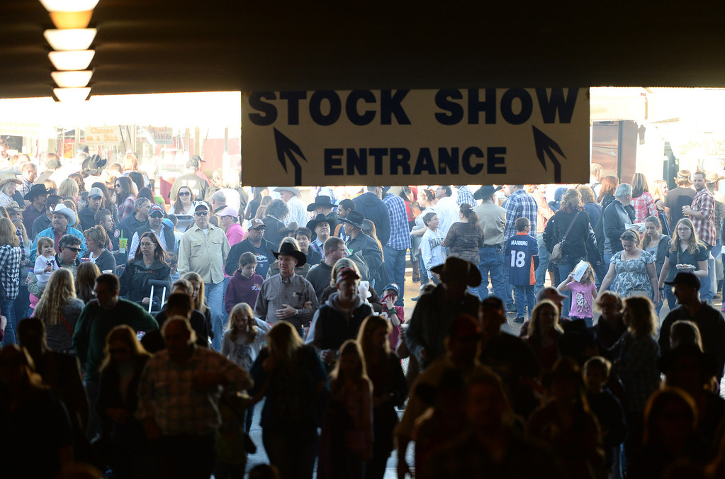 . DENVER, CO. JANUARY 25: People head into the Coliseum at the National Western Stock Show in Denver, Colorado January 25, 2014. (Photo by Hyoung Chang/The Denver Post)