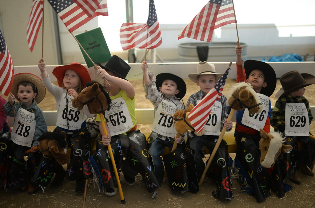 . DENVER, CO. JANUARY 25: Young cowboys and cowgirls participated in the stick horse rodeo at Ames Activity Pavilion at the National Western Stock Show in Denver, Colorado January 25, 2014. Twenty-eight children competed in the event. (Photo by Hyoung Chang/The Denver Post)