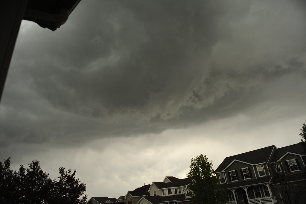 . Thick clouds swirl over Parker, Colorado\'s Horse Creek neighborhood on Wednesday afternoon, May 21, 2014. (Photo courtesy of Hannah P. Lyons)
