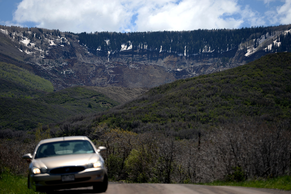 . The Mesa County Mudslide, which occurred on Sunday evening and is being measured in milesMonday, May 26, 2014. (Photo by AAron Ontiveroz/The Denver Post)