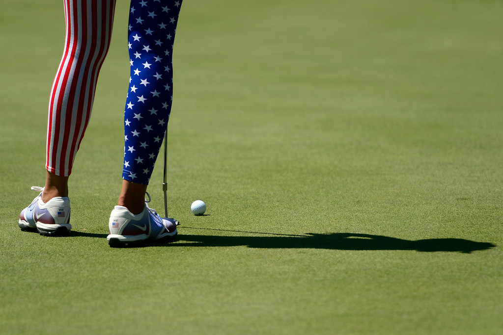 . Michelle Wie during a practice round for the Solheim Cup. The United States has never lost on a home course. (Photo by AAron Ontiveroz/The Denver Post)