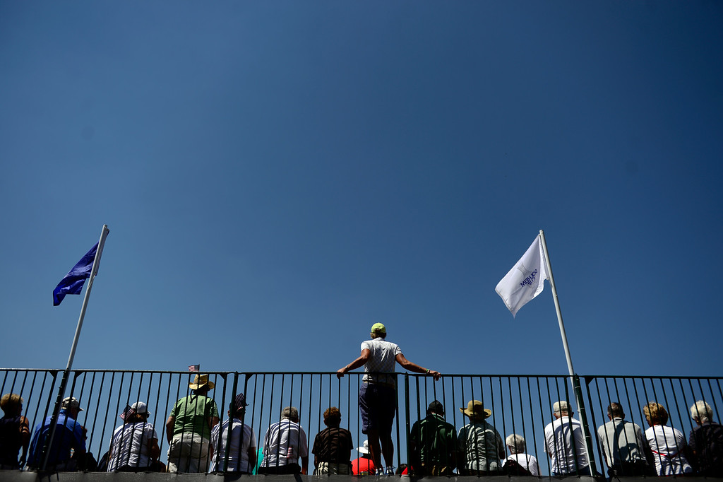 . Fans watch the action during a practice round for the Solheim Cup. The United States has never lost on a home course. (Photo by AAron Ontiveroz/The Denver Post)